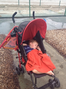 The Max Ultimate Stroller's reclining seat makes napping ANYWHERE easy!