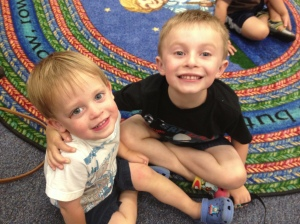 Open-ended play helps to teach siblings to work together and problem solve!