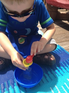 Sand art enhances both fine motor skills and hand-eye coordination!