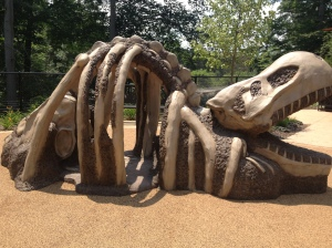 Not only does Turtle Back Zoo have amazing animals to visit, it also has one of the coolest playgrounds around!