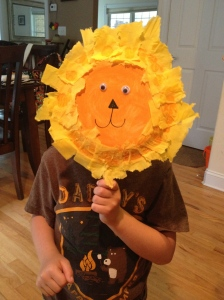 Making animal masks is a great activity for days spent on specific animals!