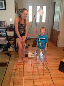Tyler and his friend Sam built their own Eiffel Tower on France Day!