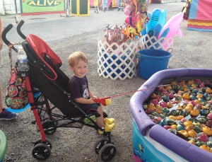Trevor was even able to enjoy fun carnival games from the comfort of his Max Ultimate Stroller!