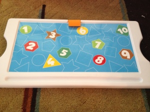 The colors, numbers, and shapes on the Art Lid make it a perfect learning tool for kids!
