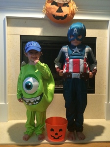 Both  boys loved wearing their costumes so much, they did not want to take them off!