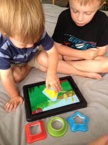 Tiggly Safari helps kids enhance visual skills by matching shapes and moving targets.