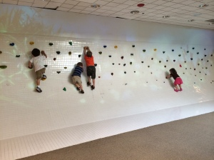 The kids had a blast climbing the rock wall!