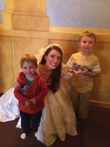 The boys were so excited to meet the cast after the show, especially Ariel!