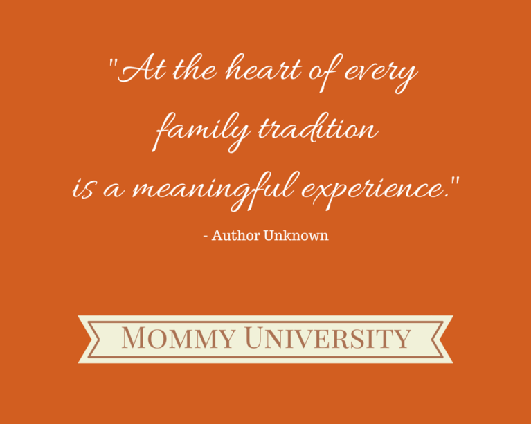 importance of family tradition Research shows that traditions are one of the three pillars of strong, healthy families as we enter the holiday season, come explore the importance of family traaditions, share your traditions, and look at establishing new traditions.