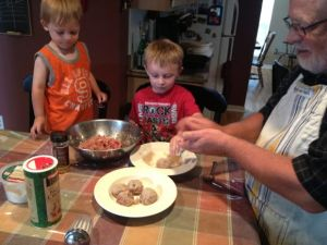 A wonderful family tradition is having an amazing Italian meal of pasta and meatballs on Sunday night!