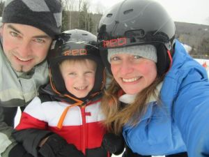 Hitting the slopes makes the entire family happy!