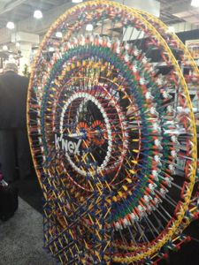 Here is a K'Nex Ferris Wheel I saw at Toy Fair NYC 2014. I also recently saw one at a toy store in Philadelphia!