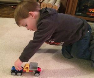 As kids play with the Rescue Team trucks, they create stories which increases language development and comprehension.