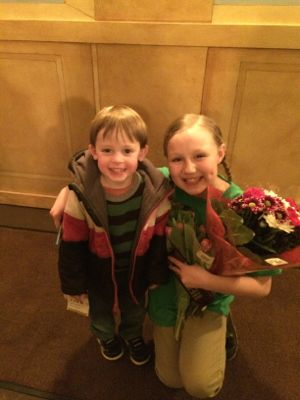 "Trevor was so excited to meet ""Lily"" (played by Savannah McLaughlin)."
